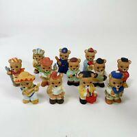 Lot of 12 Vintage Homco Porcelain Bears