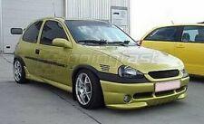 For Vauxhall/Opel Corsa B MK2 II Badgeless Debadged Sport Grill Black 1997-2000