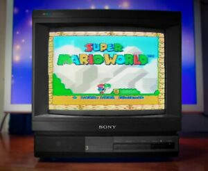 "SONY TRINITRON KV-1434M3B 14""  Japan Vintage CRT TV Arcade Games Monitor"
