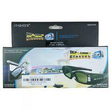 Hi-SHOCK 3D Glasses Model D+D3G For Viewing DLP-Link 3D Projector PC 3D Player