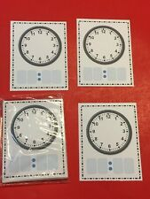 Dry Erase - Learn To Tell The Time - Blank Clock Faces - 40 Laminated Cards
