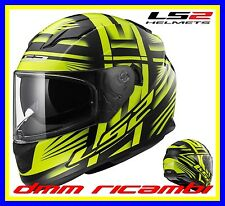 Casco Integrale LS2 FF320 Stream Bang Giallo H-V Nero Opaco Tg.M Moto Scooter