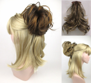 STRAIGHT HAIR FOXTAIL HAIRPIECE W/ BENDABLE WIRE COMB EXTENSIONS HAIRDO PONYTAIL