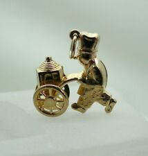 9 Carat Gold Old Fashioned Ice Cream Seller Articulated Charm