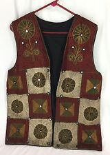 Multi Color Floral Geometric And Sparkle Vest Womens See Photos For Measurements