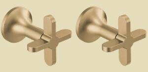 Brizo Odin HX70475-GL Luxe Gold Wall Mount Tub Filler Cross Handles