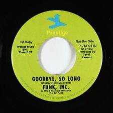New Listing70s Soul Funk 45 - Funk, Inc. - Goodbye, So Long - Prestige - Vg+ mp3 - promo!