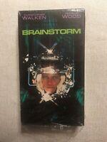 Brainstorm VHS Video Tape Christopher Walken Natalie Wood Douglas Trumbull