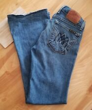 Lucky Brand Women's Lil Maggie Distressed Flared Button Fly Jeans Size 27