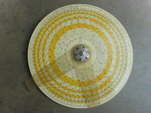 """1931 Atlas Circular Two Cursor Single Disk Printed Aluminum Slide Rule 8 3/8"""" @@"""