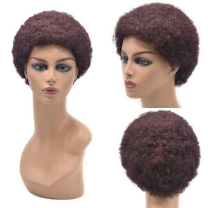 Afro Kinky Curly Wigs for Black Women Short Brazilian Human Hair Natural Soft US