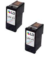 2PK 18C0781 #1 COLOR Inkjet Cartridge for Lexmark X Series X2350 X2470 Z730 Z735
