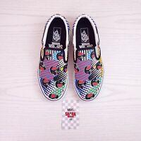 Vans X Shark Week Classic Slip-On Skate Shoes Limited Rare Men's 5 / Women's 6.5