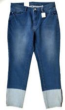 MAC Jeans SENSATION SKINNY Turn Up Bi - Stretch blau Röhre Gr.34 L 27 NEU dream