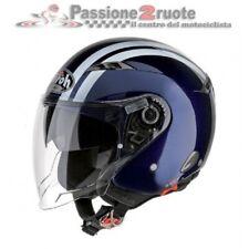 Casco jet moto scooter Airoh City one Flash blu L helmet casque