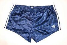 adidas vintage Nylon 80s Shorts Gr. 7 L shiny Sporthose Sprinter blau GS1