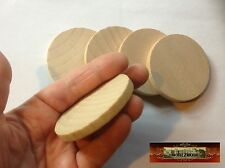 M00788 MOREZMORE 5 Unfinished 2 3/8 Round Base Wooden Wood Disk Circle Blank A60