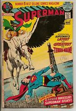 DC Comics Superman #249 March 1972 1st Terra Man Neal Adams Inks Giant Size VG+