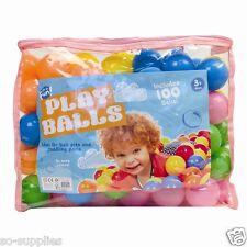 100PCS BALL POOL BALLS BABY KID CHILDREN SOFT PLAY TOY SWIM PIT POOL GAME MULTI