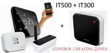 SALUS IT500 + IT300 INTERNET THERMOSTAT SMART PHONE PROGRAMMABLE 2 ZONE HEATING