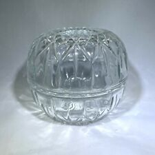 Vintage Homco Clear Glass Globe Fairy Lamp Candle Holder