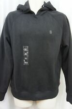 IZOD Hoodie Sweater Sz S Black Cotton Blend Classic Pullover Hoddie 4588432