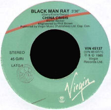 CHINA CRISIS - Black Man Ray / Animalistic - 1985 Virgin Ita - VIN 45137