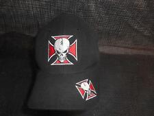 Old Vtg SKULL & IRON CROSS MEN'S HAT Baseball CAP Gangster DCI Headwear