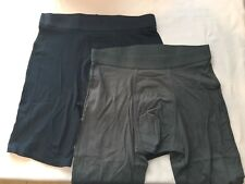 TOMMY JOHN 2-PACK GREY/BLUE LARGE Boxer Briefs NWT!