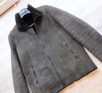 DROME LEDERJACKE XL jacke leather jacket leder fur pelz sherling