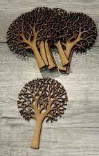 MDF wooden family tree craft shape blank 10 pack 150mm, scrapbook, wedding