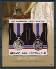 Guyana 2018 MNH Queen Elizabeth II Coronation 65th Ann 2v S/S II Royalty Stamps