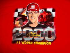 MICHAEL SCHUMACHER Fan Gear T-Shirt L F1 2000 WORLD CHAMPION SCHUMI 1/18 rare