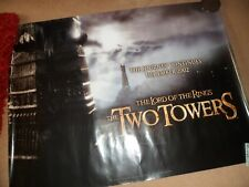 THE LORD  OF THE RINGS   poster  The TWO  TOWERS