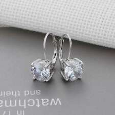 Cubic Zirconia Solid 925 Sterling Silver Hoop Earrings For Women Jewelry Gifts