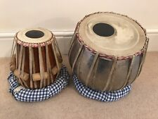 More details for 2 piece handcrafted indian drum 'tabla' set for musical
