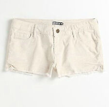 NEW ROXY WOMEN'S SHORT CASUAL CUTOFF SHORTS VINTAGE CORDUROY STRETCH PANTS SZ 9
