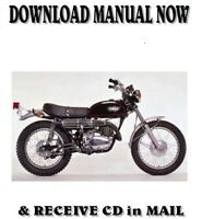1971 Yamaha RT360 DT250 Enduro factory repair service shop manual on CD