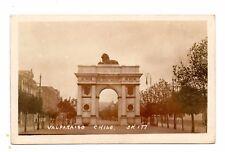 VALPARAISO, CHILE, ARCO BRITANICO, AVENIDA BRAZIL, REAL PHOTO PC c 1910-20