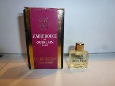 Miniature ancienne GUERLAIN  HABIT ROUGE EDC 4 ml