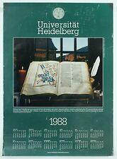 Vintage Heidelberg University Exhibit German Manesse Medieval Poetry Art Poster