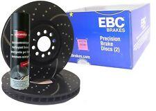 EBC Turbo Groove Bremsscheiben + Bremsenreiniger VA Nissan 350Z Roadster GD7122