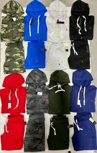 Polo Ralph Lauren Top And Bottom Sweat Suit Zip Up Hoodie Complete Set Brand New