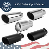 """Stainless Steel Bolt-On Diesel Exhaust Tip 2.5"""" /3"""" Inlet 3.5""""/4""""/4.5""""/5"""" Outlet"""