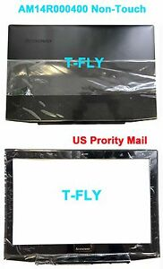 """New Lenovo Y50-70 15.6"""" LCD Back Cover AM14R000400 + Front Bezel Non-touch USA"""