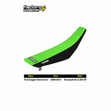 2008-2014 KAWASAKI KLX 250 SF Black/Green FULL GRIPPER SEAT COVER BY Enjoy MFG