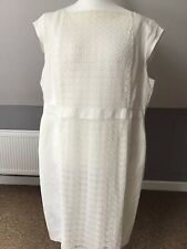 Marks&Spencers Autograph White Linen Dress New 22