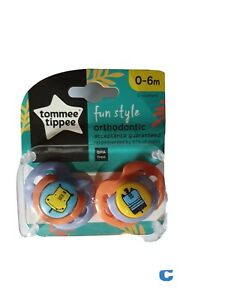 Tommee Tippee Fun Style Orthodontic Soothers 0-6m
