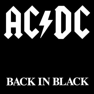 AC/DC Back in Black Album Cover Fridge Magnet 58mm x 58mm