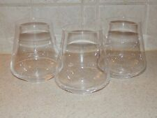 "CHEF & SOMMELIER CRYSTAL 3 OLD FASHIONED TUMBLERS 3 3/4"" EXCELLENT CONDITION!"
